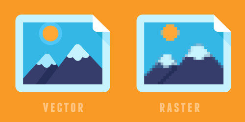 Vector images are made from math. Raster images are made from blocks.
