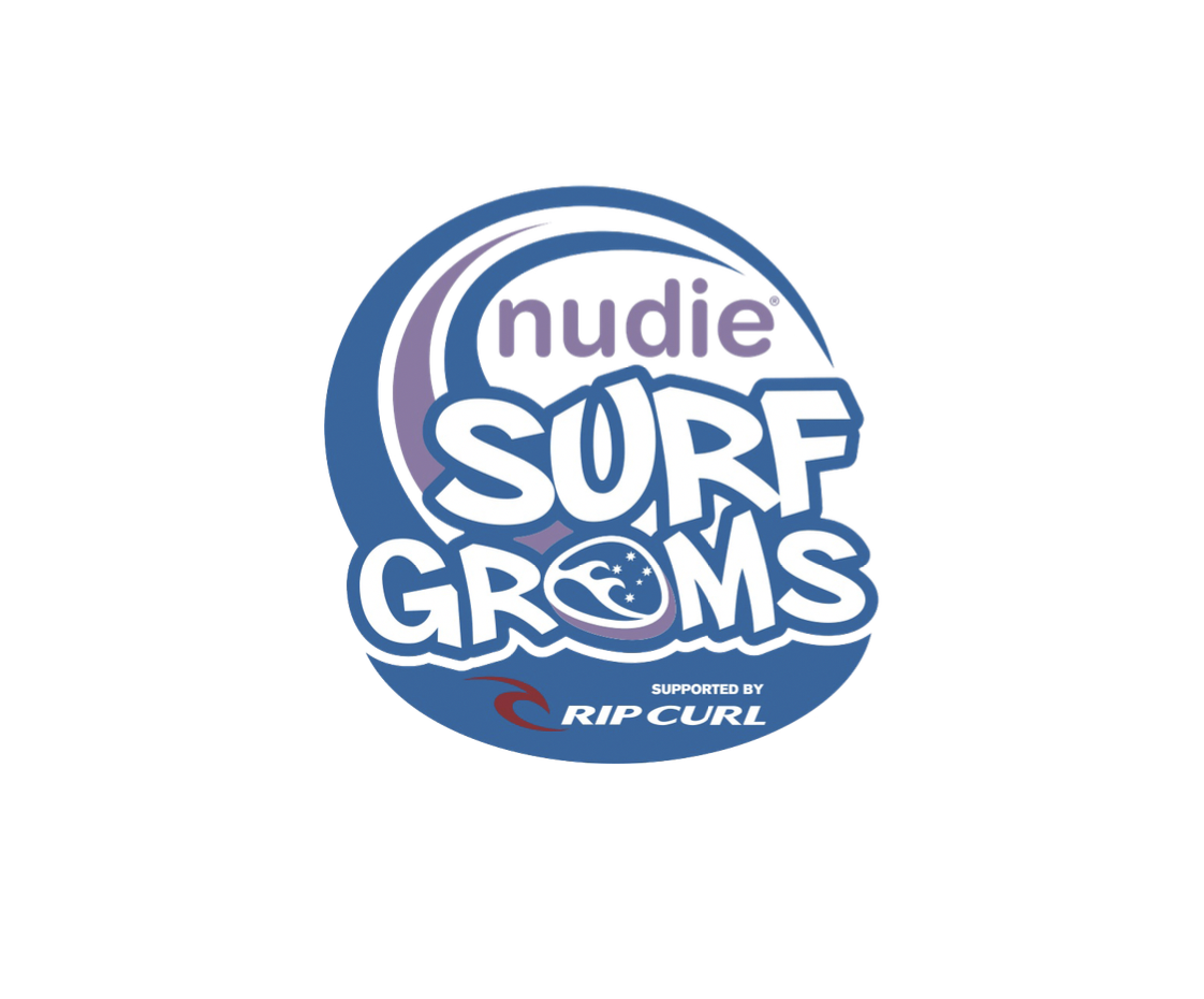 Kids Surfing Development Program - nudie SurfGroms develops a proficiency in surfing that kids can enjoy and embrace for a lifetime and offer youngsters an opportunity to have loads of fun at the beach whilst developing strong ocean awareness and beach safety skills at a very influential period in their lives