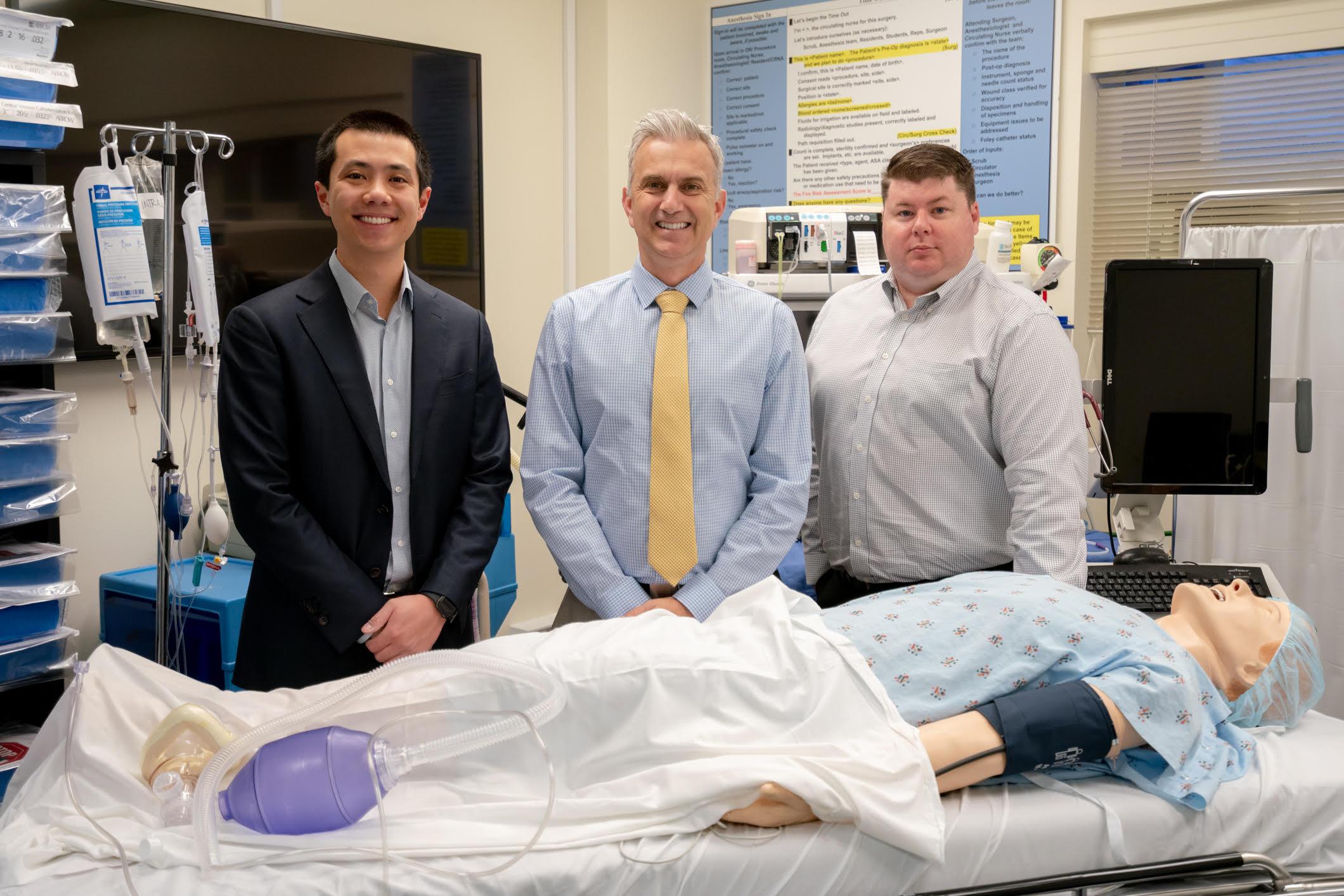 Left to Right: Michael Ma, Cameron Ricks, RN, MD, Keith Beaulieu