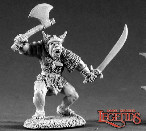 1 x female hobbit sword-dark heaven legends reaper miniature rpg rpg 03359r