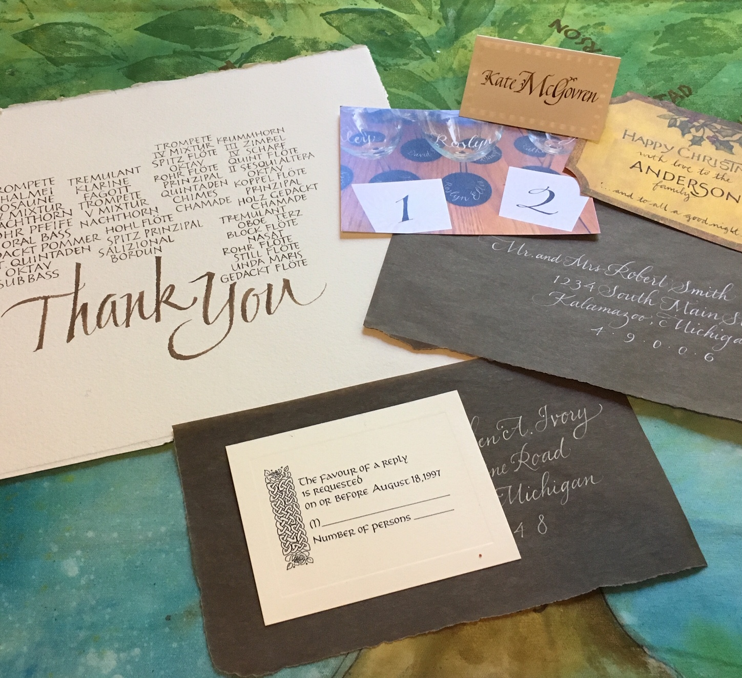 Looking for a Calligrapher? - This listing of Pen Dragons members is a good place to start.
