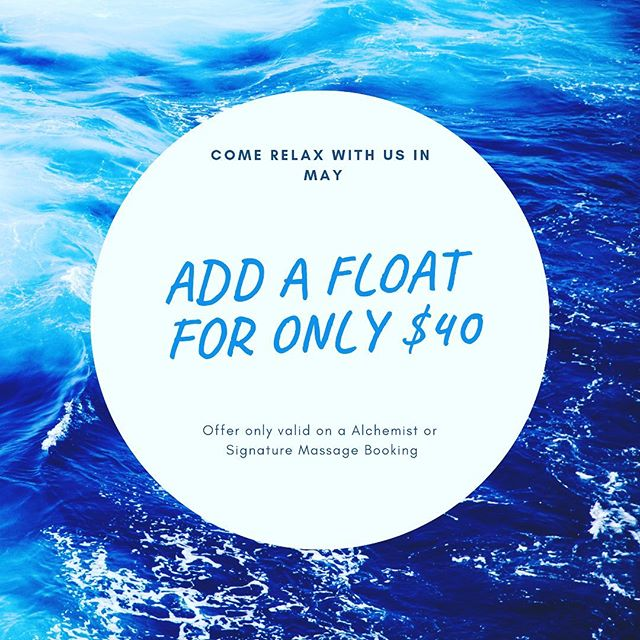 Come relax with us! Add a float onto an Alchemist or Signature Massage Booking for only $40. #elevatemindbodypeace #alchemist #massagetherapy #lfk