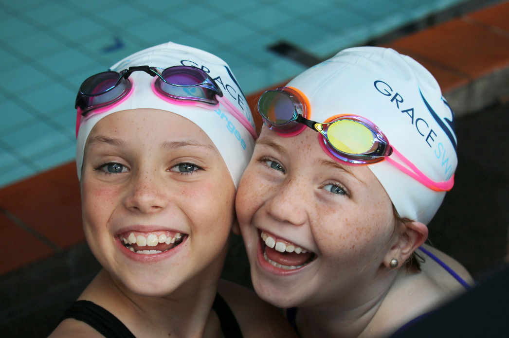 Mini Meets - Macca's Mini Meets are novelty swim meets in swim schools. The Mini Meets are offered to Swim Schools as a great way to give added value to their students by introducing them to the joy of racing in the pool.Click here to find out more about Mini Meets at Grace Swimming.