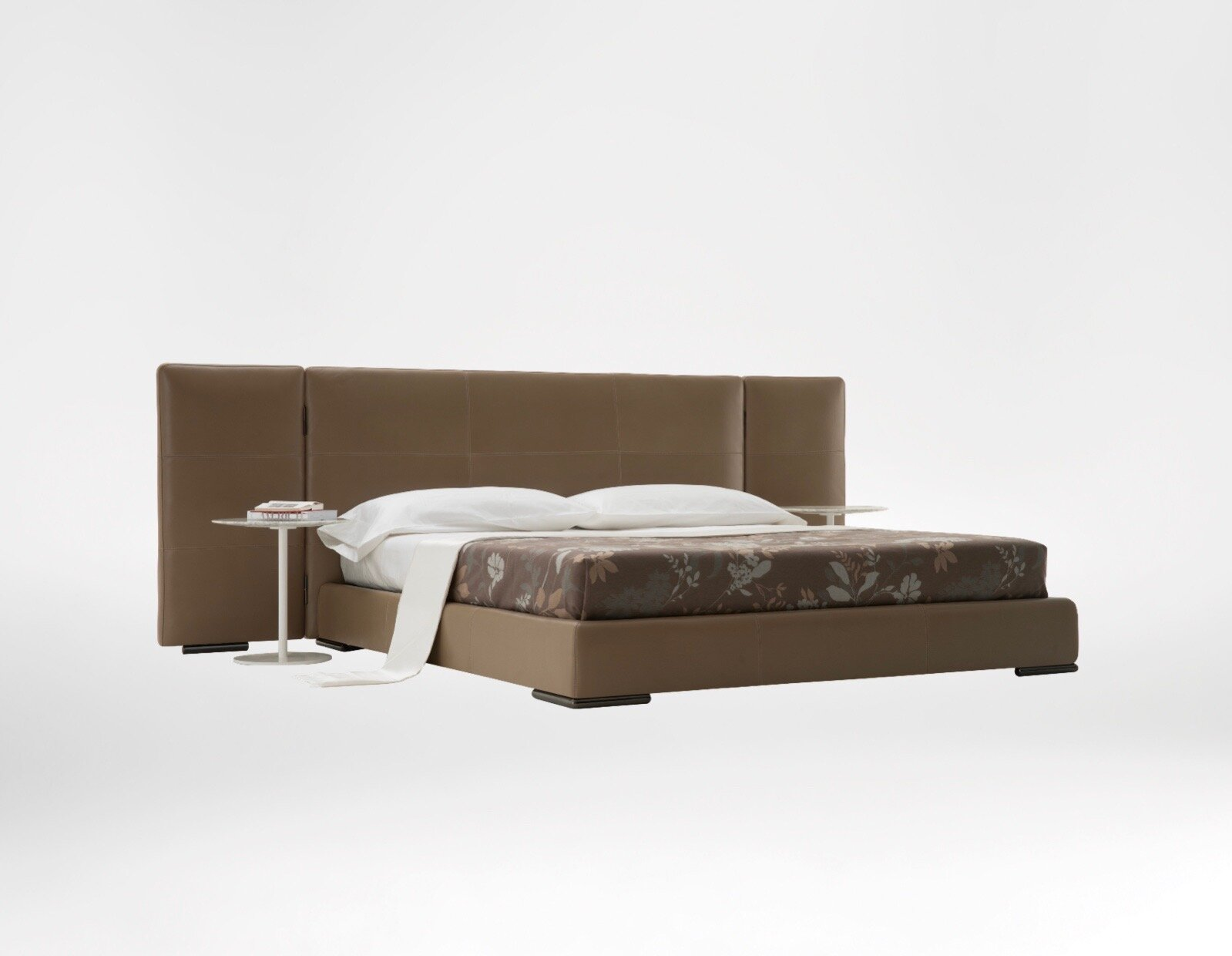 Screen Bed - A dramatic headboard, a modern low profile and sleek, slim, legs epitomise the Screen Bed.