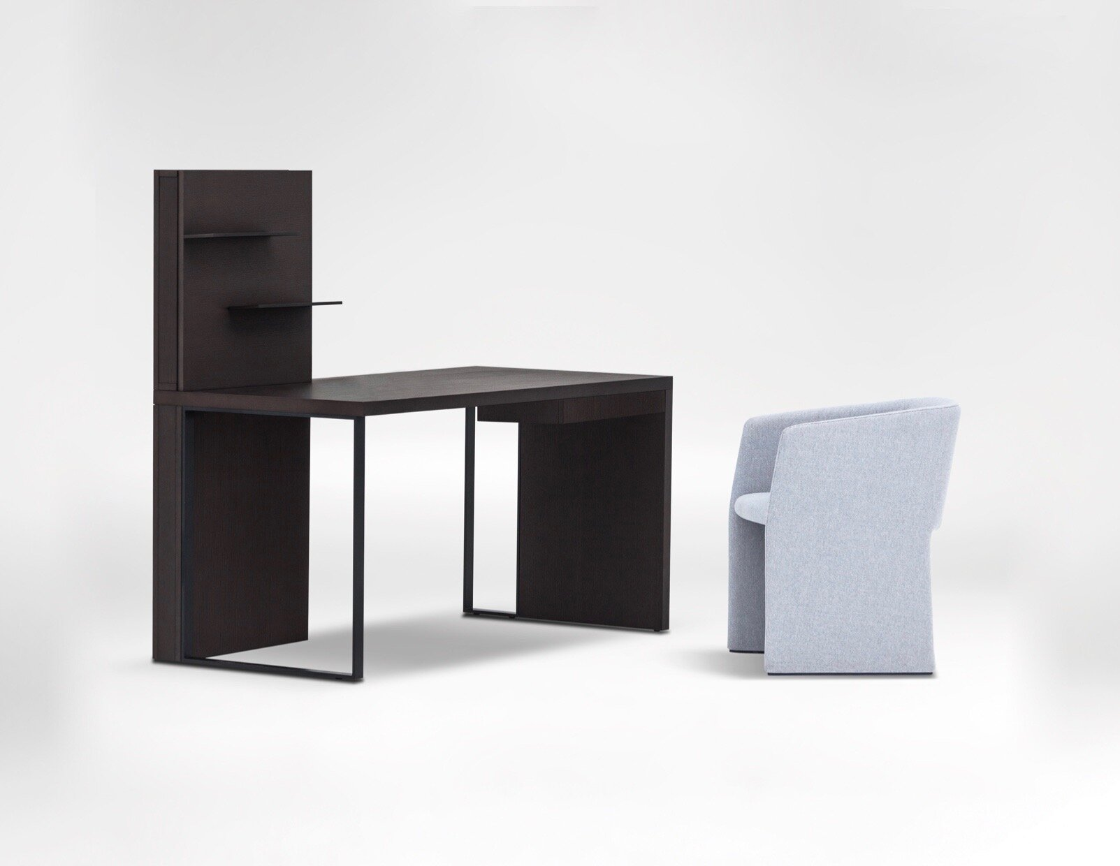 Time Desk - A clean shape built with straight lines highlights a 3D effect and modern industrial aesthetics.