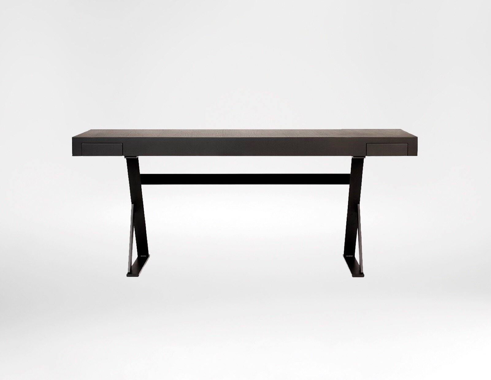 King Desk - The King desk delicately balances a contemporary light graceful profile with strong materials and functionality.