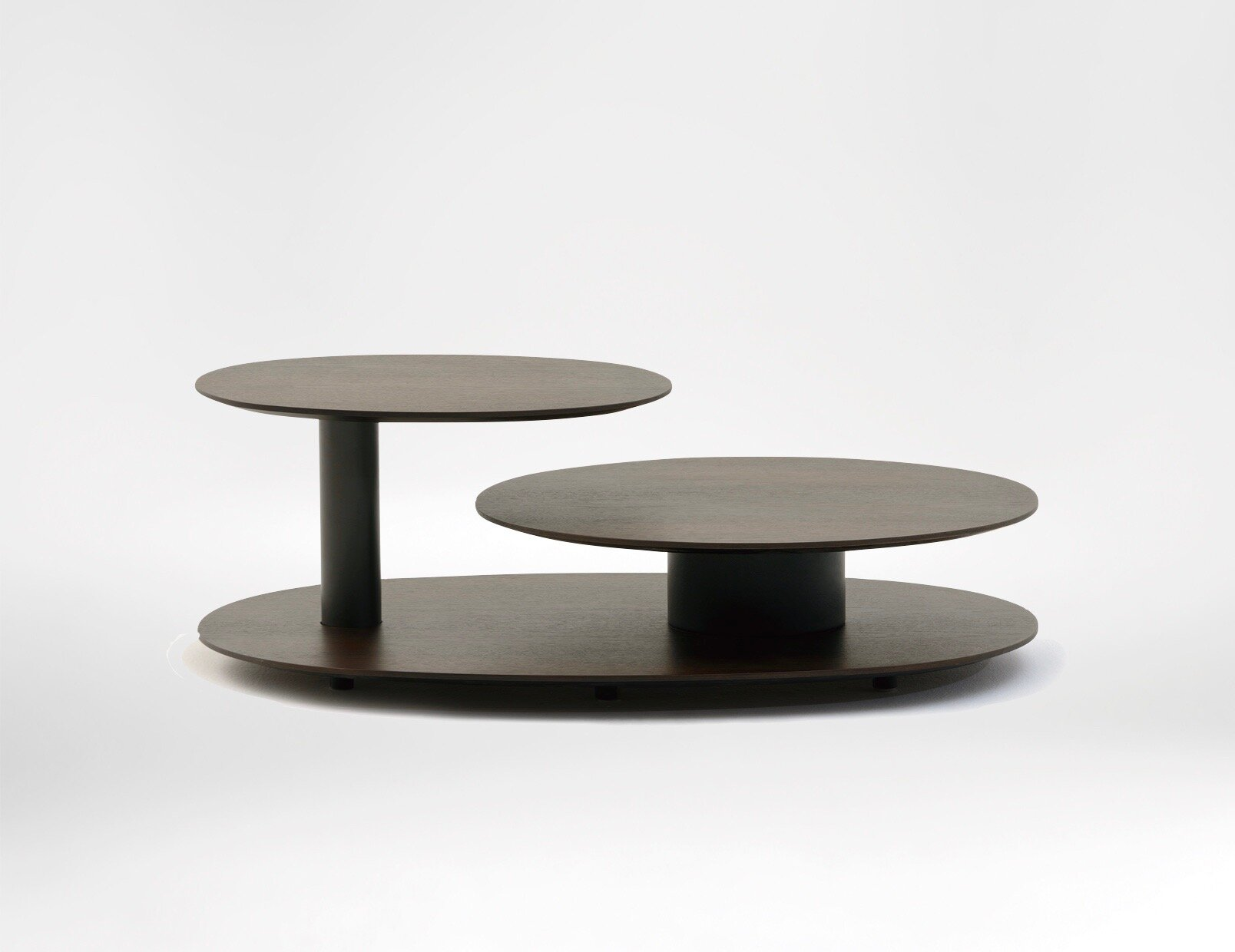 Lotus Coffee Table - With a pivoting top level, the Lotus is able to provide surface space right where you need it.