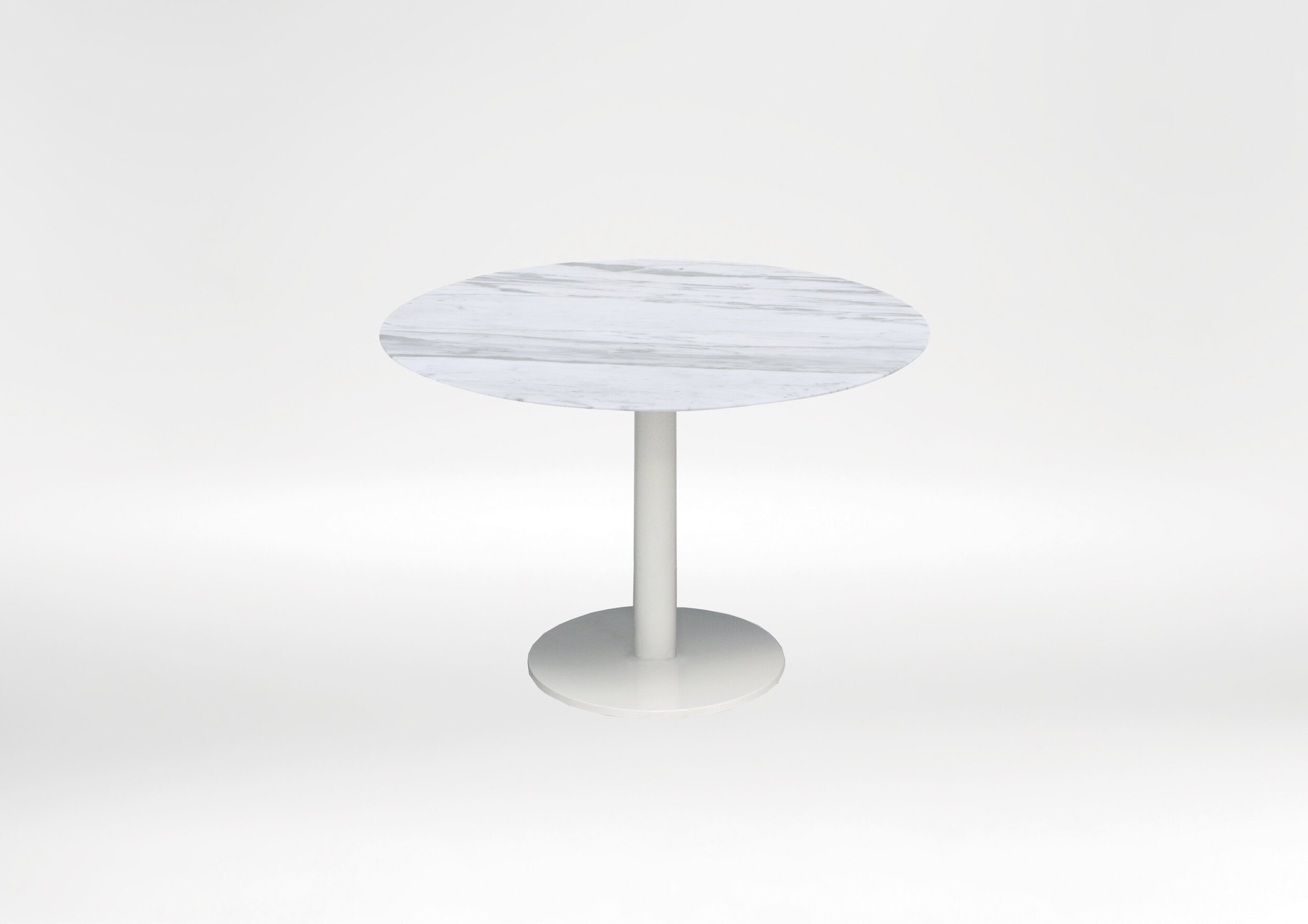 Hannah Dining Table - Compact circular contemporary dining table, perfect for smalls gathering spaces.