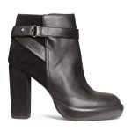 H&M Leather Platform Ankle Boots, $99