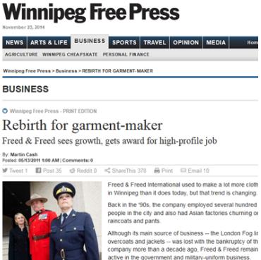 Rebirth for garment-maker –    May 2011