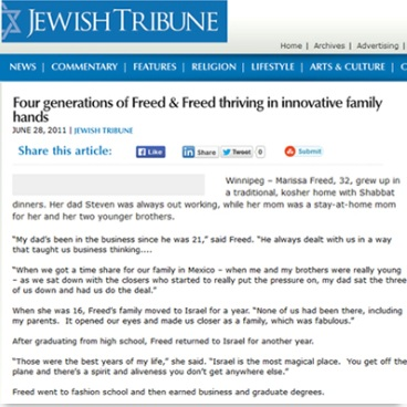 Four Generations of Freed & Freed –    Jun 2011