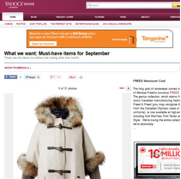 What we want: Must-have items    - Sep 2014