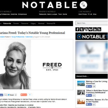 Today's Notable Young Professional    - Aug 2014