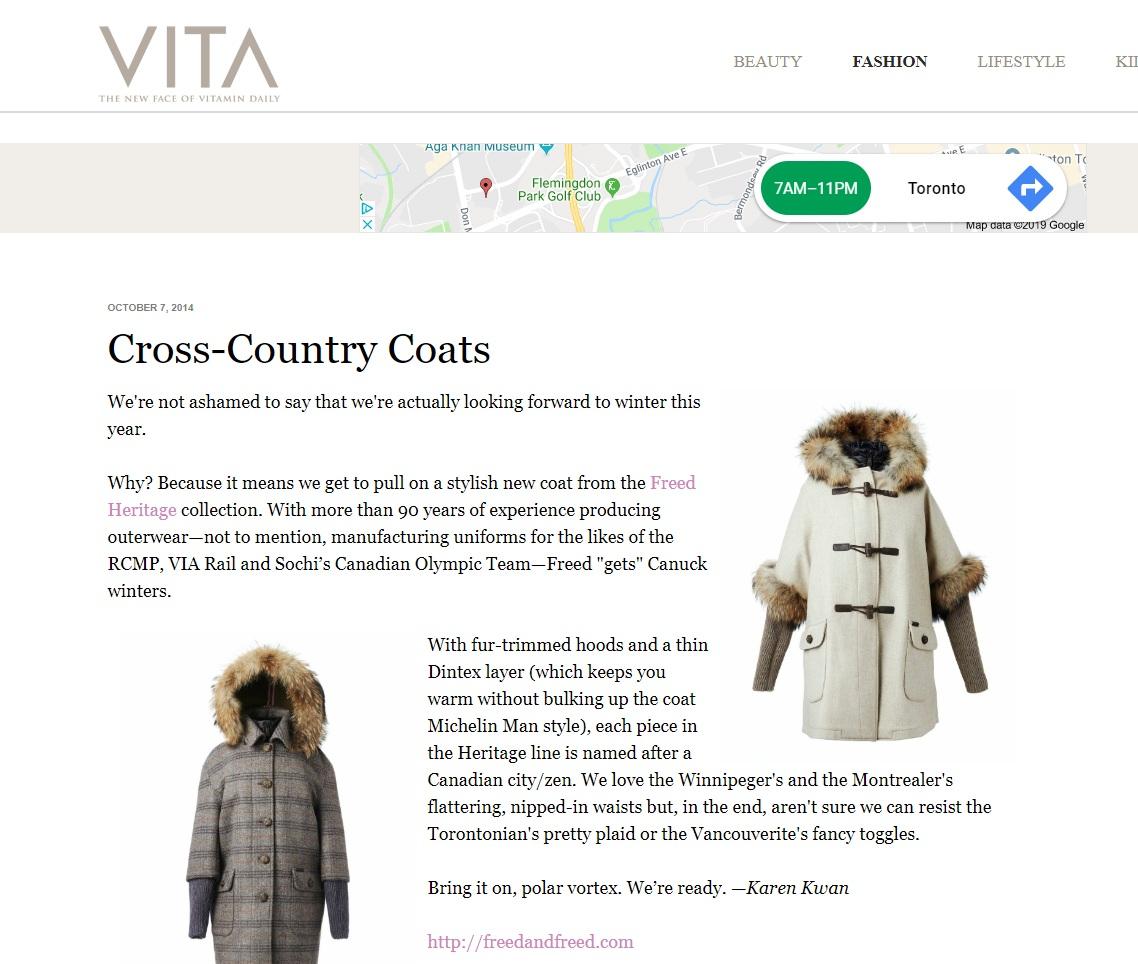 Vitamin Daily – Cross-Country Coats    - Oct 2014