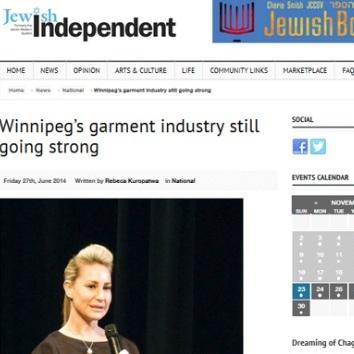 Winnipeg's garment industry still going strong –    Aug 2015