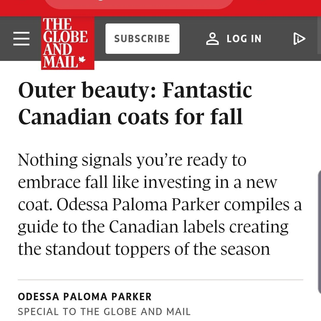 Outer Beauty: Fantastic Canadian coats for fall - Sep 2019
