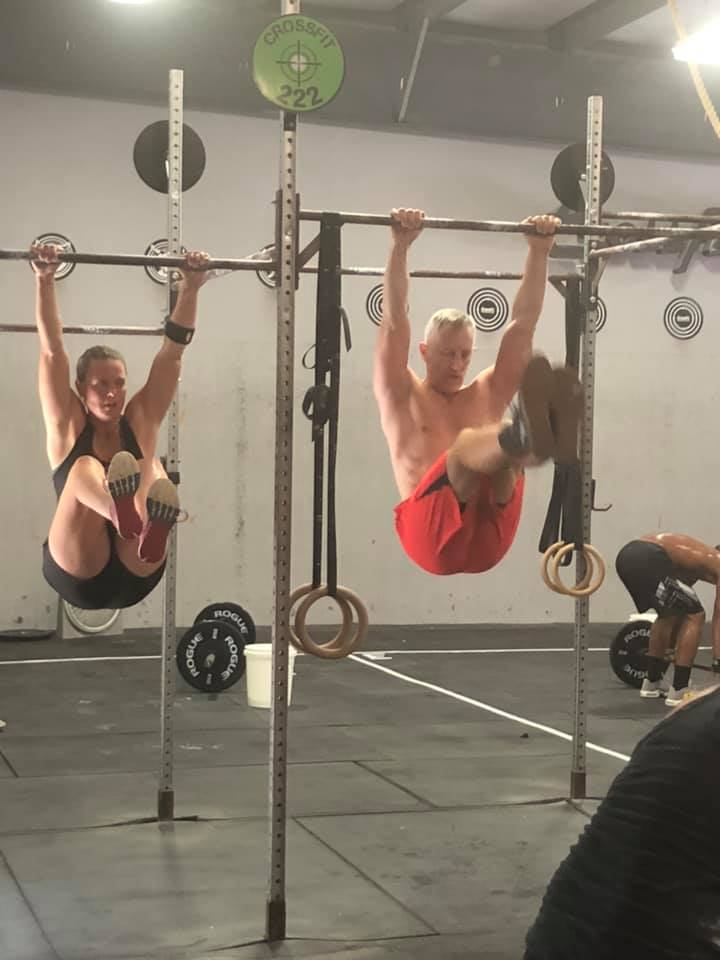 """CONDITIONING - """"Beef Jerky""""AMRAP 12:21 Kettlebell Swings (53/35)13 Kettlebell Reverse Lunges (53/35)7 Push Jerks (165/115)Post WOD midline3 Supersets:1 min D-Ball Hold20 GHD or 30 AbMat Sit-ups*Rest 2 min between sets"""