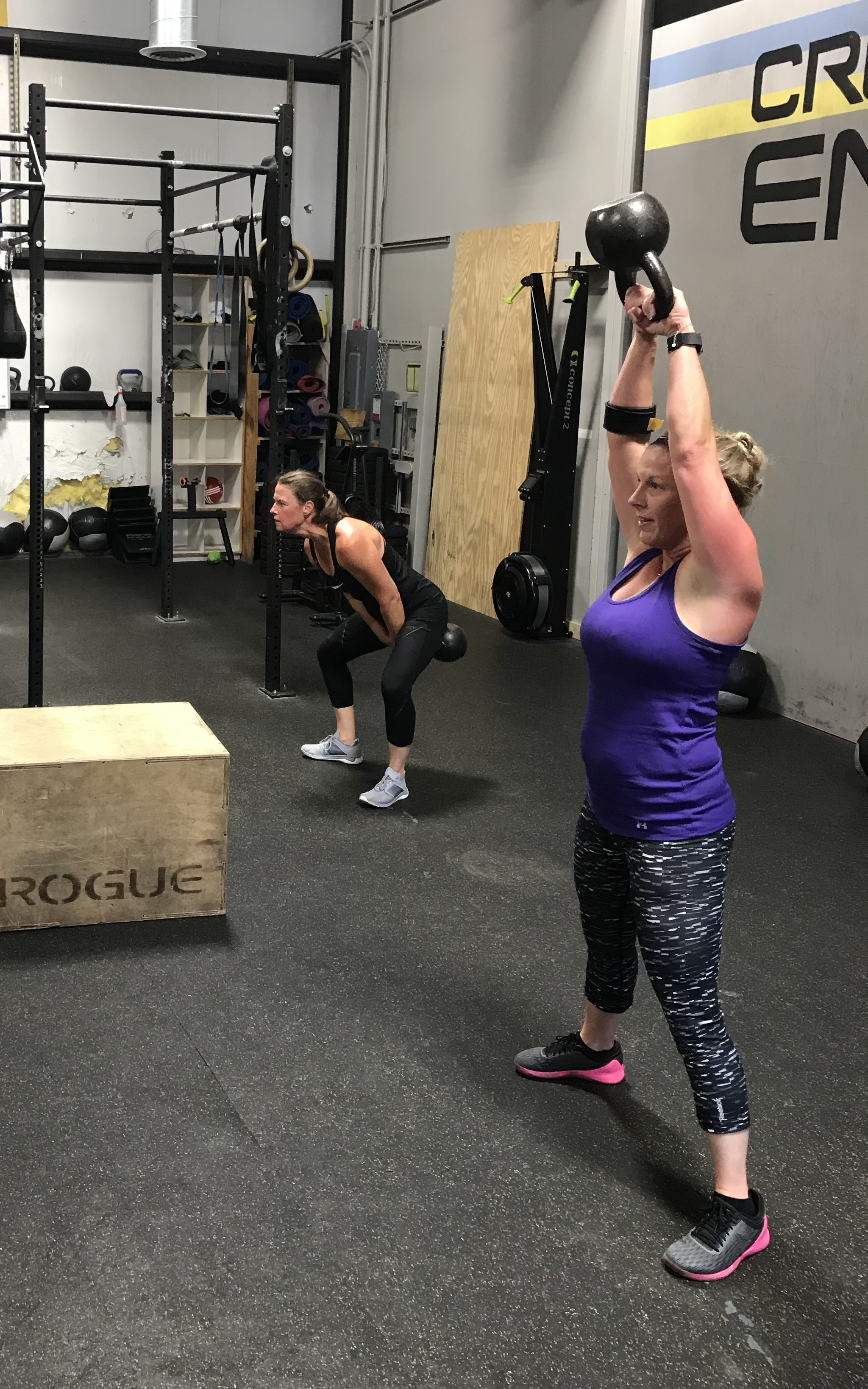Conditioning - 16 Minute EMOM1.) 100m Run/Row2.) 15 DU (Rx+: 30)3.) 30s Handstand Hold4.) 15 KB SwingsFinisher: DB Front Raise 3x10DB Shoulder Press 3x10