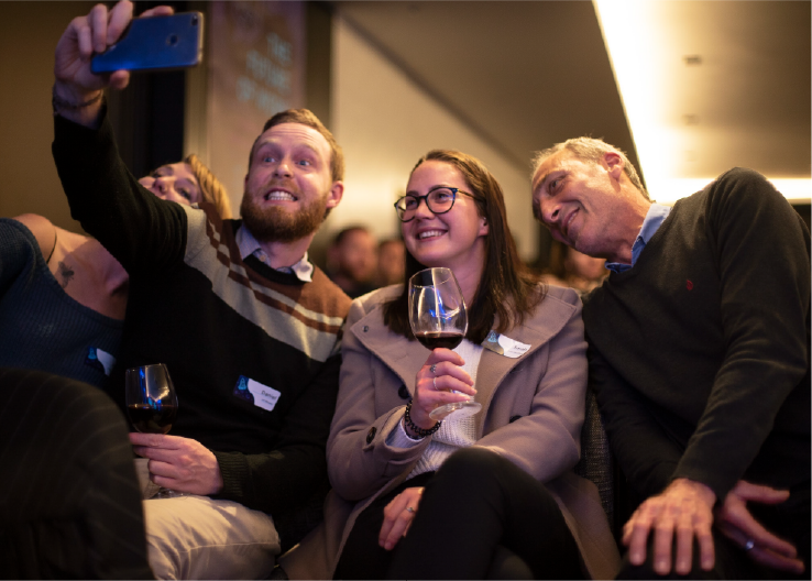 Connect:   What takes an event from great to can't-wait-to-go-back is the connections that you make and the fun you have doing it! Make new friends and build connections by networking at the event.