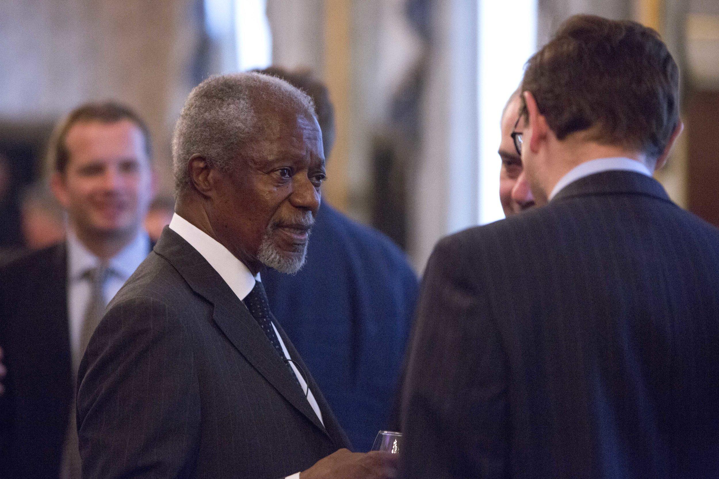The late Kofi Annan, former Secretary-General of the UN