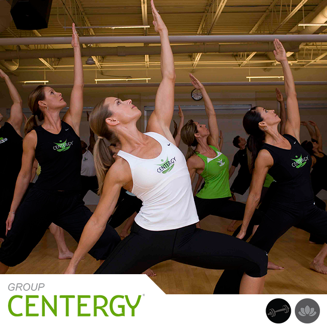Group Centergy® will grow you longer and stronger with an invigorating 60-minute mind-body workout. It incorporates yoga and Pilates fundamentals with athletic training for balance, mobility, flexibility, and the core. Emotive music drives the experience as you breathe and sweat through this full-body fitness journey. REDEFINE YOUR SELF.