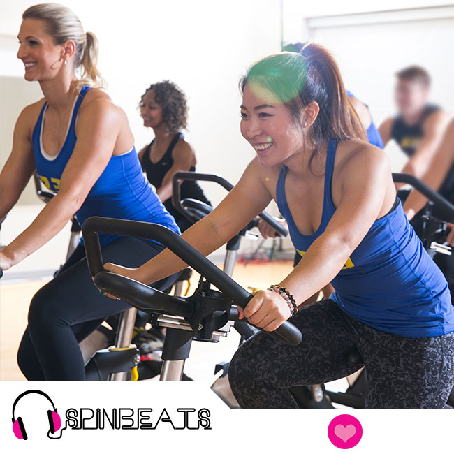 A DJ on Wheels! Increase your heart rate and redefine your lower body while singing along to chart topping hits in this cycling class!