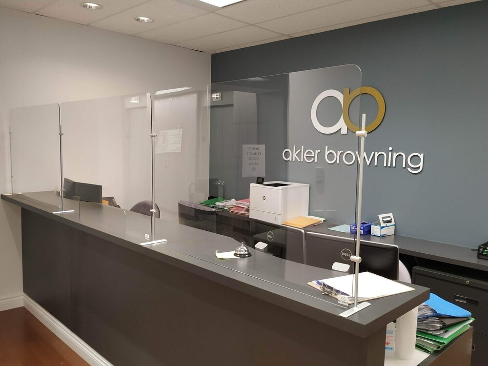 Acrylic sheets protect you and your customers!