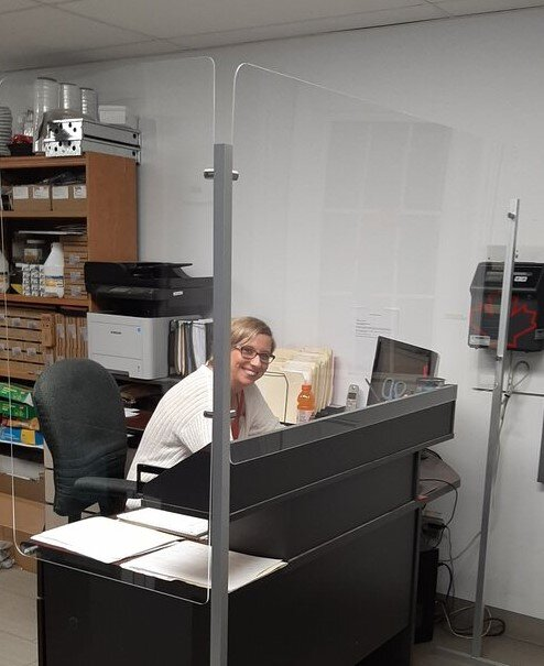 Be sure your staff and clients feel safe & install plexiglass shields.