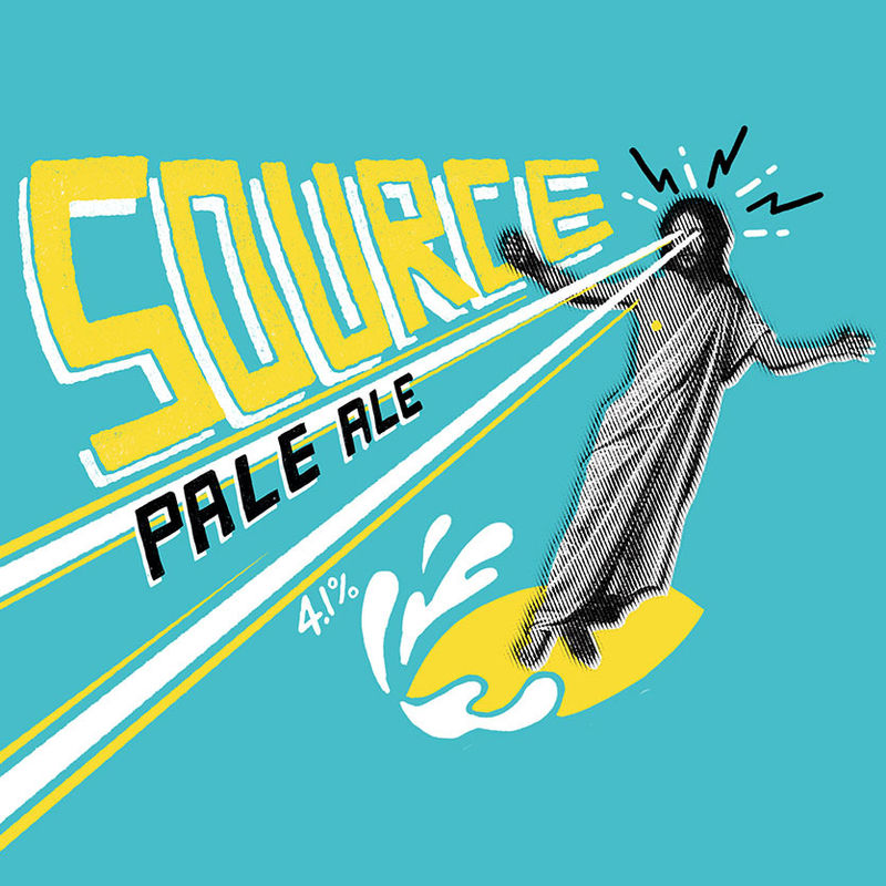 Source - Pale Ale  4.1% ABV  A beer for every day that is not an everyday beer. Packed full of hoppy flavours and aromas backed by a gentle maltiness. Dangerously drinkable.  Hops: Chinook, Columbus, HBC431