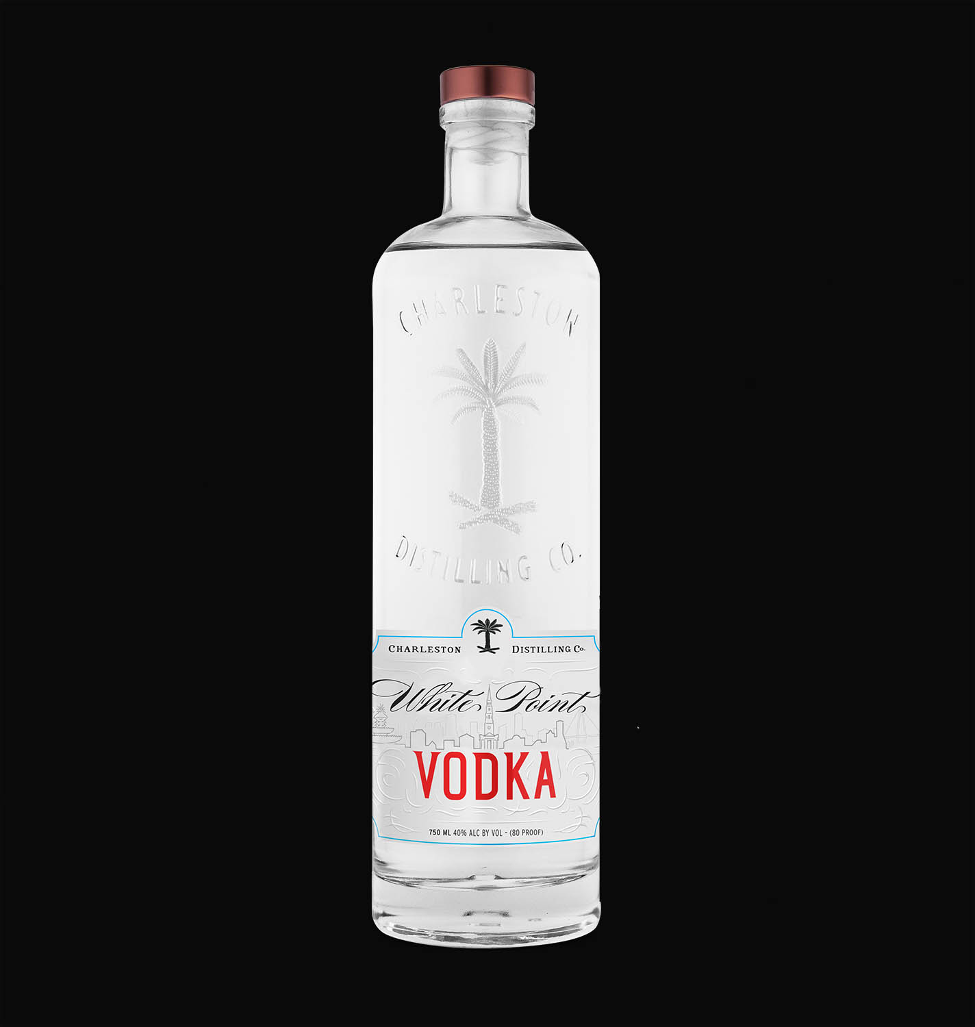 White Point Vodka - The perfect balance of sweet and peppery. That's what sets White Point Vodka apart from the rest. Our farm-milled corn and wheat is distilled down to have a clean, crisp finish. Neat, on the rocks or mixed, White Point Vodka stands up to whichever serving style you prefer.80 Proof