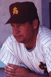 Bobby Winkles Arizona State University  ASU's first varsity baseball coach, Winkles was 524-173 in 13 years and a three-time NCAA Coach of the Year. He won three national championships ('65, '67, '69) in four appearances over the span of five years. Winkles took the ASU program from scratch and built it into one of the premier powerhouses in all of college baseball. Winkles was named the 1965 and 1969 NCAA Coach of the Year and The Sporting News Coach of the Year in 1965, 1967 and 1969. He was also a trailblazer in another area, as he became one of the first college coaches to transition to Major League Baseball. After leaving ASU, he managed four years in the Majors with the California Angels and the Oakland Athletics.