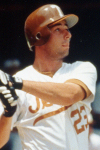 Brooks Kieschnic k  At Texas, Kieschnick was two-time ABCA Player of the Year, two-time Dick Howser Award-winner and the 1993 Collegiate Baseball National Player of the Year.