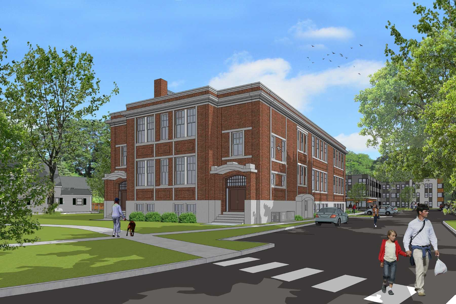 McElwain School Apartments - Proposed Mixed-Income Family Housing in Bridgewater, MA