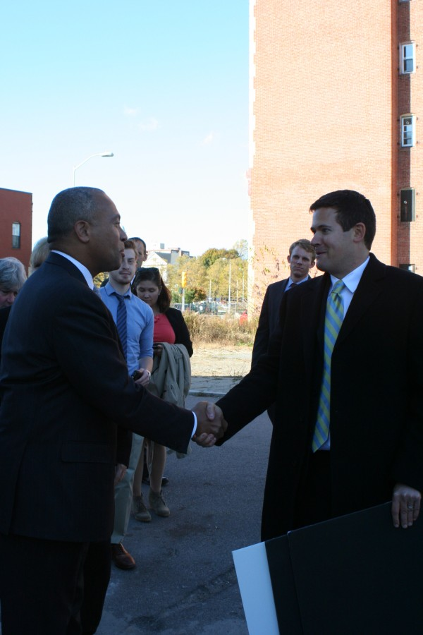 Governor Duval Patrick visited Station Lofts on Tuesday October 29, 2013