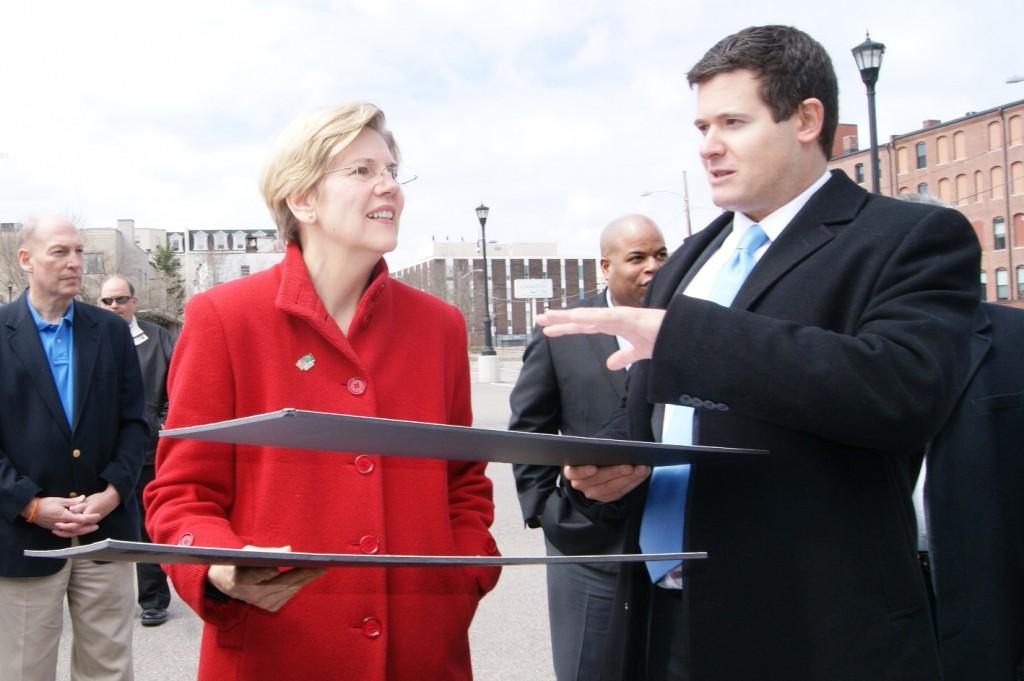 Senator Elizabeth Warren visited Station Lofts on Saturday April 15, 2013