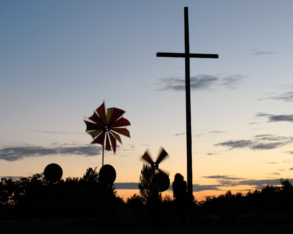 Cross with Windmills