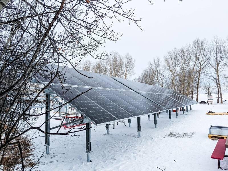 GROUND-MOUNT - 80 kW ground-mount system along Buffalo Lake, Alberta.