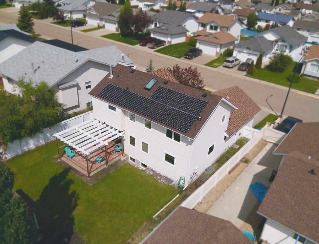 RESIDENTIAL - A 5.03 kW system in Red Deer, Alberta.