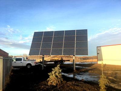 ERMINESKIN SCHOOL - 5.2 kW pole-mounted, adjustable install at Ermineskin, Alberta.