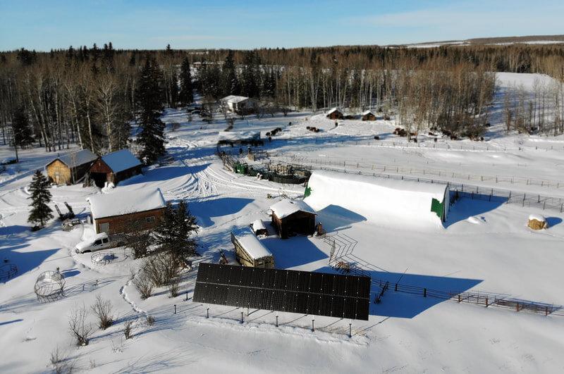 DEBOLT GROUND-MOUNT - 9 kW ground-mount install by Debolt, Alberta.