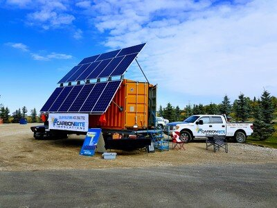 CBI MOBILE SEA-CAN - Off-grid mobile sea-can, 5 kW of solar, 80 kWh battery bank, 10 KVA generator.No access to power? Power your remote job site or event with one of our mobile off-grid sea-cans. Available to purchase or rent with options starting as low as $300 per day!