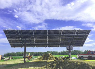 GROUND-MOUNT - 9.2 kW install near Sundre, Alberta. Featuring the latest and greatest in solar panels: LG bi-facials!