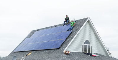 RESIDENTIAL - 7.4 kW install south of Sylvan Lake, Alberta.