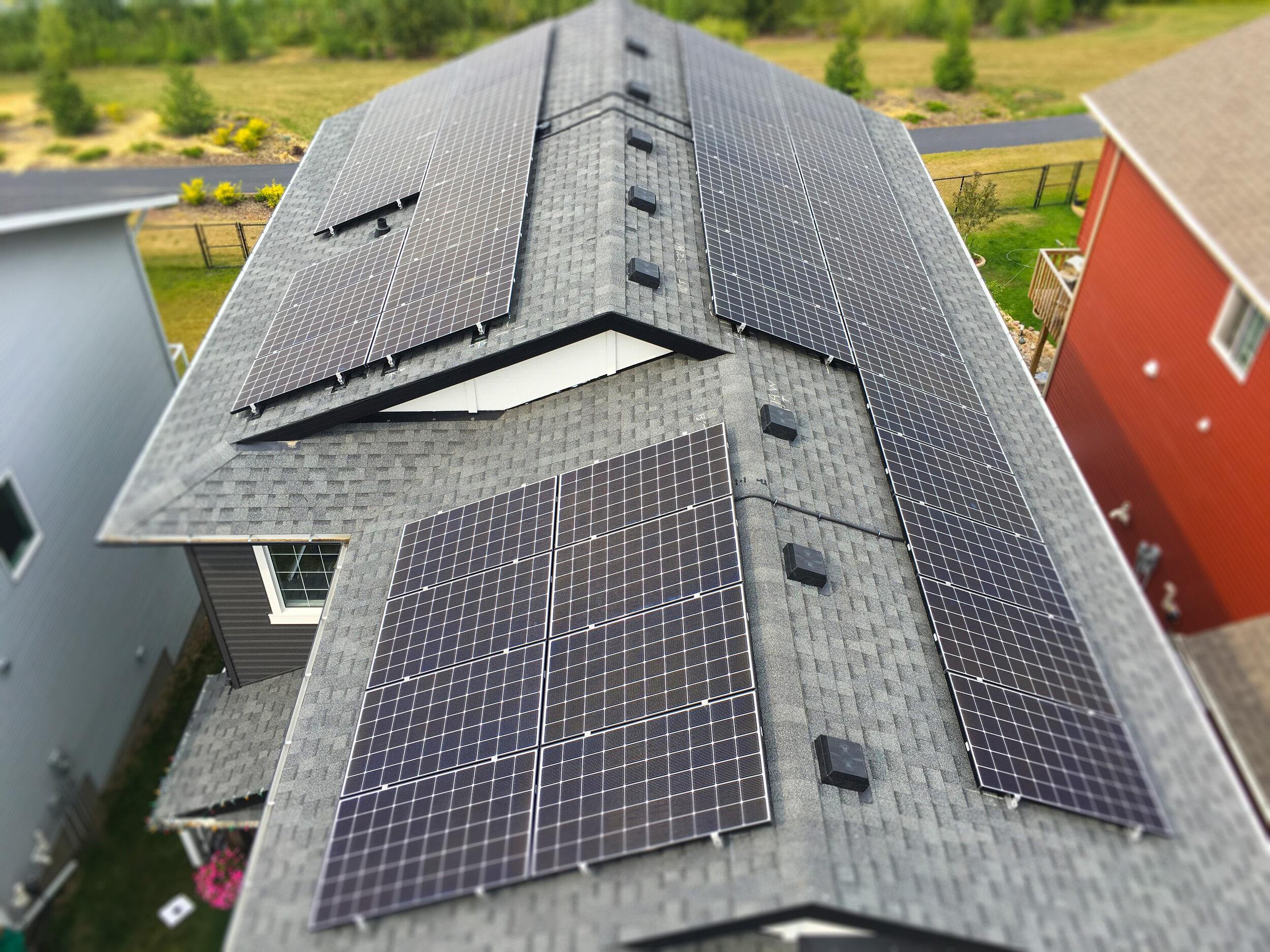 RESIDENTIAL - 15 kW install in Red Deer, Alberta.