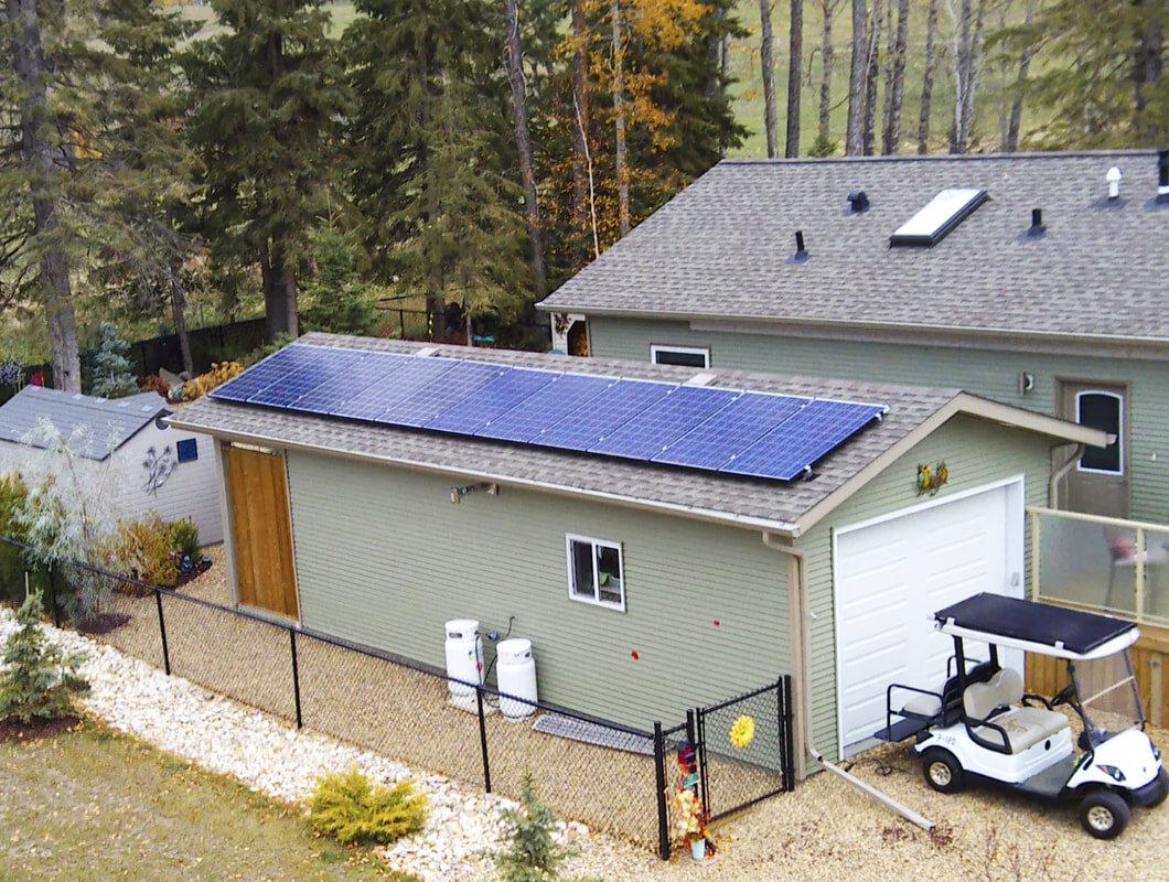 RESIDENTIAL - 3 kW install at Gull Lake, Alberta.
