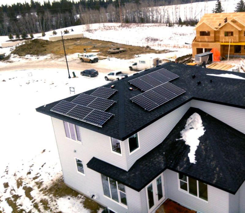 abbey platinum show home - A 4.4 kW system in a new subdivision in Red Deer, Alberta.