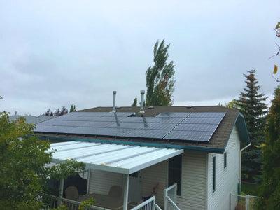 RESIDENTIAL - 7.4 kW install in Red Deer, Alberta.
