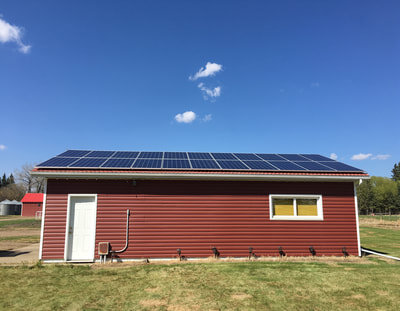 RESIDENTIAL - 7 kW install outside Vimy, Alberta.