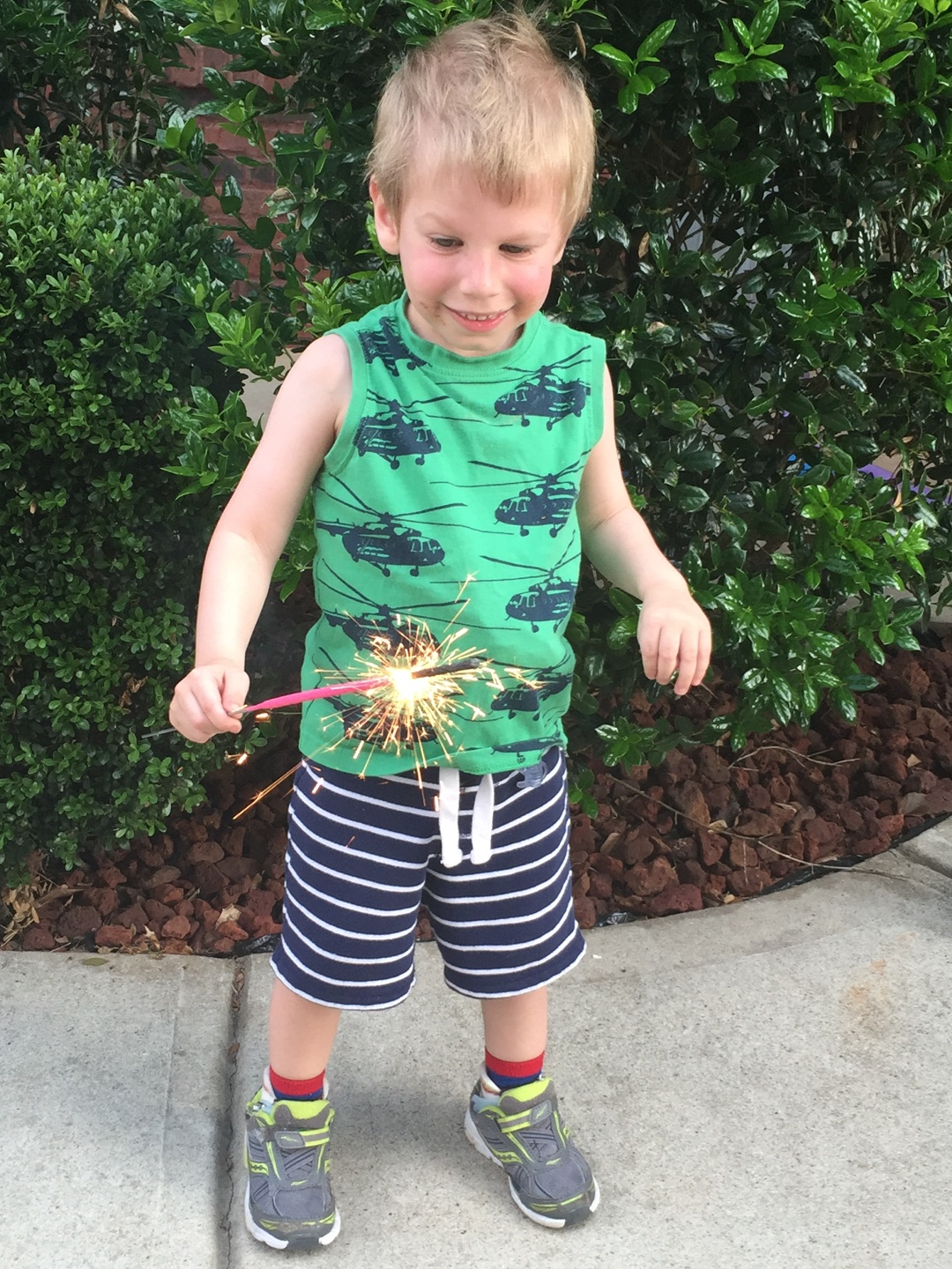 Silas after full recovery from heart transplant with Sparkler | Heart Transplant Story