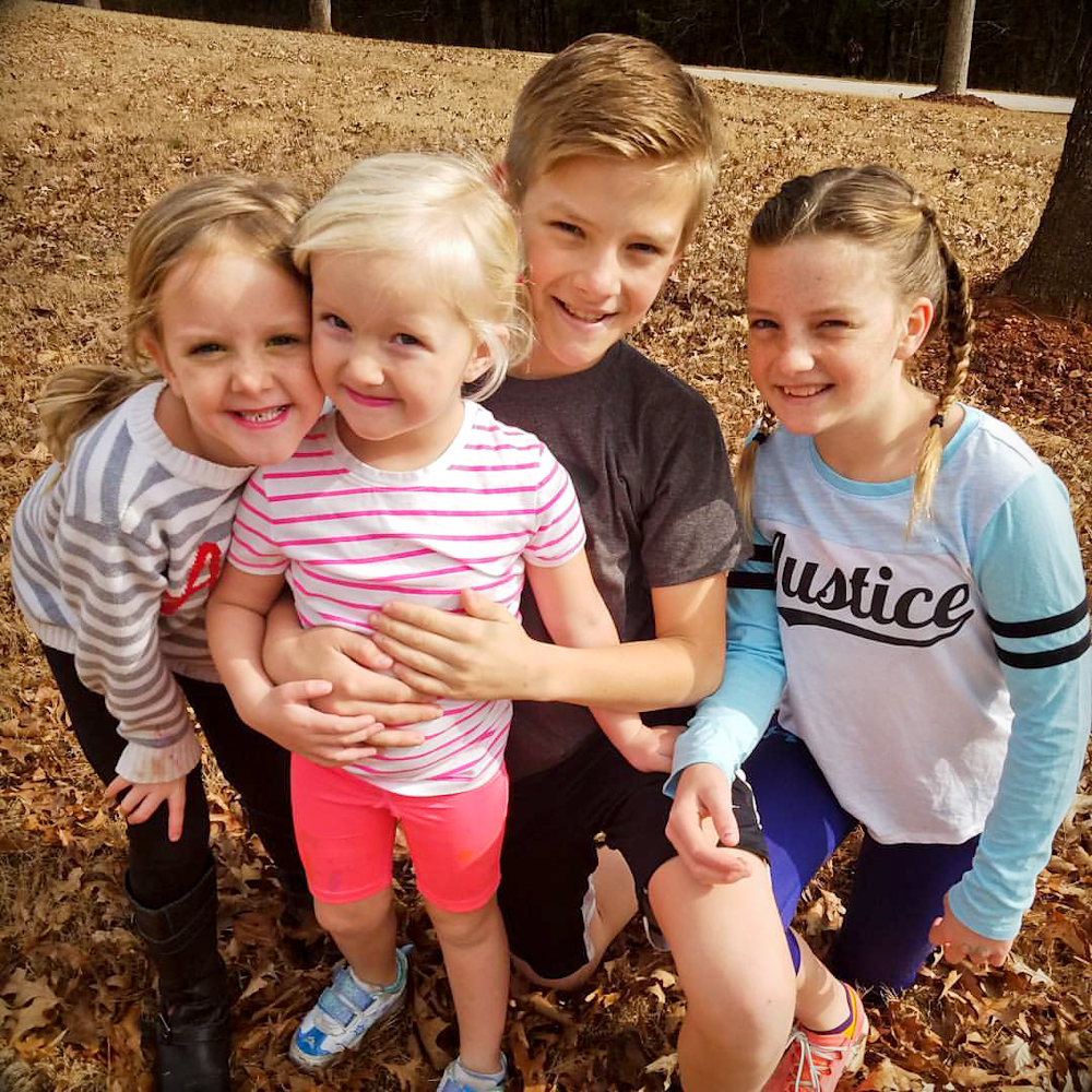 Corrie Smiling with her brother and sisters   Hope with Biliary Atresia and Liver Transplant